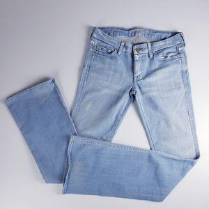 7FAM A Pocket Light Wash Boot Cut Jeans 28 Long